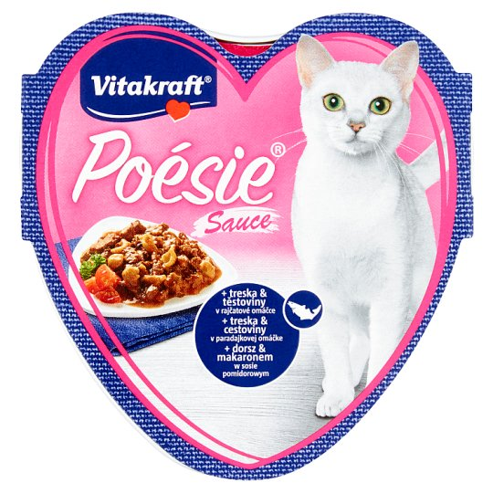 Vitakraft Poésie Sauce + Cod & Pasta in Tomato Sauce 85 g