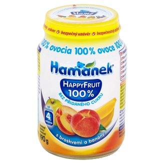 Hamánek Happy Fruit S broskyňami a banánmi 190 g