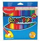 Maped Color'Peps Trojhranné farebné pastelky 24 ks