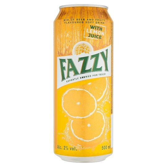 Fazzy Miešaný alkoholický nápoj z piva a nealkoholického nápoja s citrónovou príchuťou 500 ml