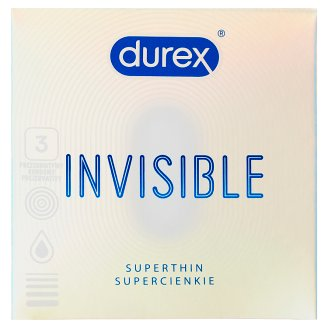 Durex Invisible Extra thin extra sensitive prezervatívy 3 ks