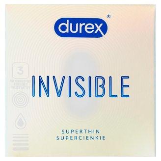 Durex Invisible Extra thin extra sensitive prezervatívy 3 ks