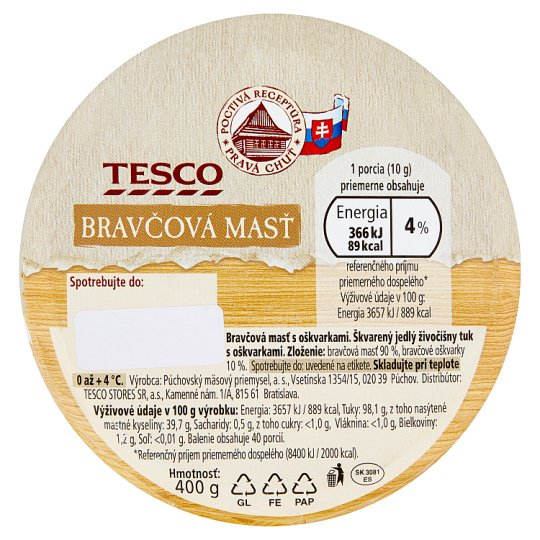 Tesco Pork Ointment with Greaves 400 g