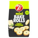 7 Days Bake Rolls Mini Crispy Chips Flavoured with Parmesan Cheese, Garlic and Herbs 80 g