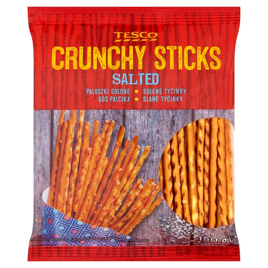 Tesco Crunchy Sticks Salted 150 g