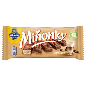 Opavia Miňonky Caffé latté oblátky celomáčané v mliečno-kakaovej poleve 50 g
