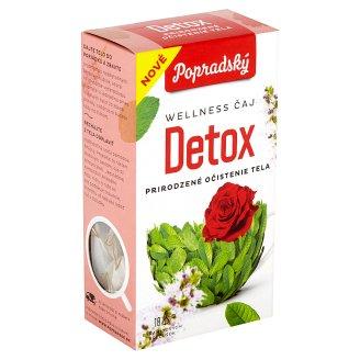 Popradský Wellness Čaj detox prirodzené očistenie tela 18 x 1,5 g