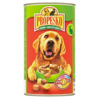 Propesko Pieces with Rabbit Beef and Pasta in Sauce Complete Food for Adult Dogs 1240 g
