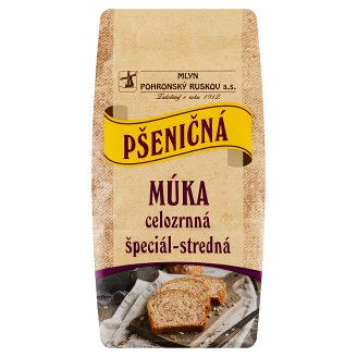 Mlyn Pohronský Ruskov Wholemeal Special Medium Wheat Flour 800 g