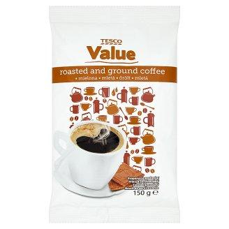 Tesco Value Pražená mletá káva 150 g