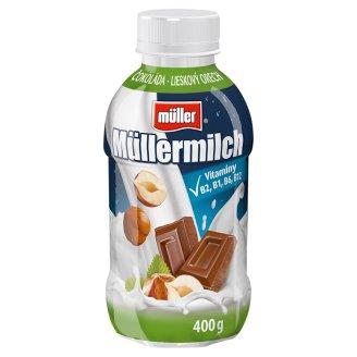 Müller Müllermilch Mliečny nápoj s príchuťou čokoláda-lieskový oriešok 400 g
