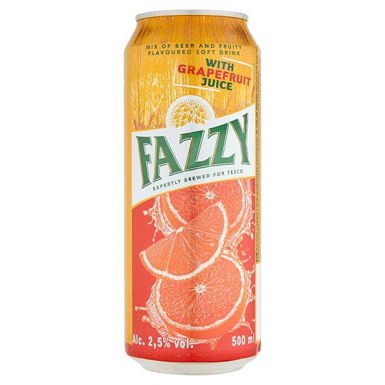Fazzy Mix of Beer and Fruity Flavoured Soft Drink with Grapefruit Juice 500 ml