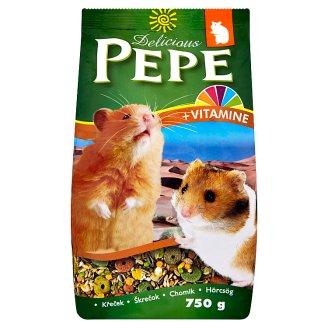Pepe Delicious bohaté kompletné krmivo pre škrečky 750 g