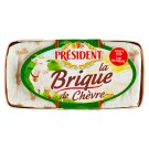 Président La brique de Chèvre Goat Cheese with White Mold on The Surface, Full Fat 150 g