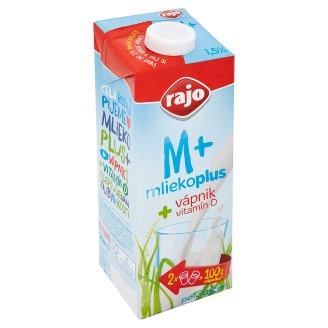 Rajo Mliekoplus Trvanlivé polotučné mlieko s vápnikom 1 l