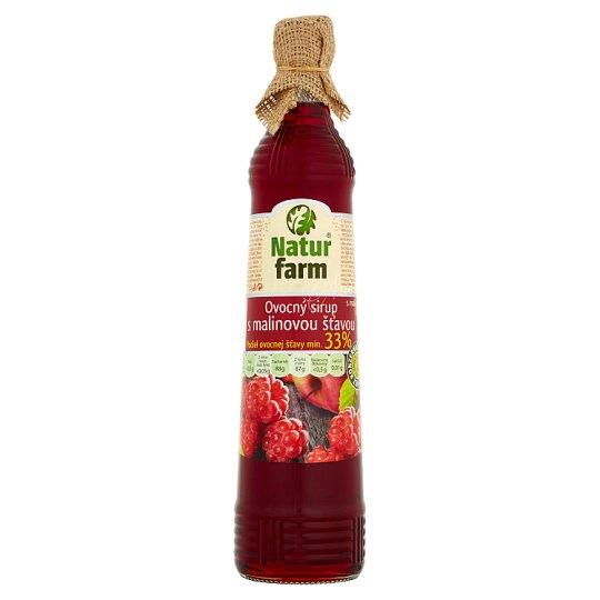 Natur Farm Fruit Syrup with Raspberry Flavour 0.7 L