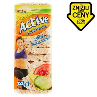 Bona Vita Active Celozrnné chlebíčky ryžové jemne solené 120 g