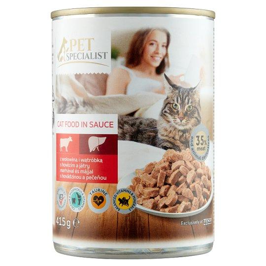 Tesco Pet Specialist Cat Food in Sauce 415 g