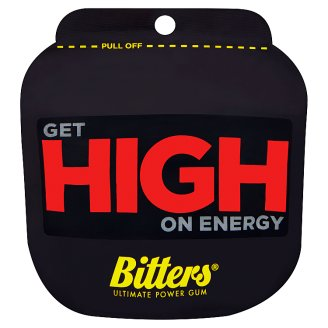Bitters Ultimate Power Gum Get High on Energy žuvačka bez cukru 3 x 4,5 g