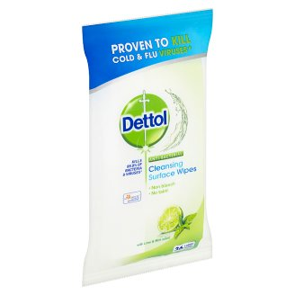 Dettol Lime & Mint Scent Cleansing Surface Wipes 36 pcs
