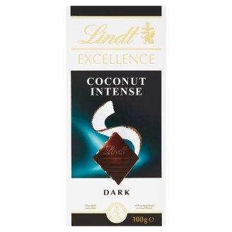 Lindt Excellence Extra horká čokoláda s karamelizovanými kúskami kokosu 100 g