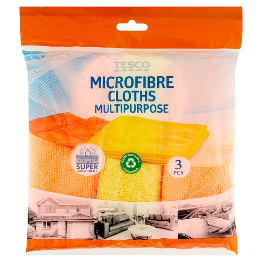 Tesco Microfibre Cloths Multipurpose 3 pcs