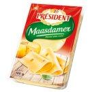 Président Maasdamer Slices of Full-Fat Semi-Hard Ripened Cheese 100 g