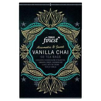 Tesco Finest Ochutený čierny čaj aromatizovaný porciovaný 50 vrecúšok 125 g
