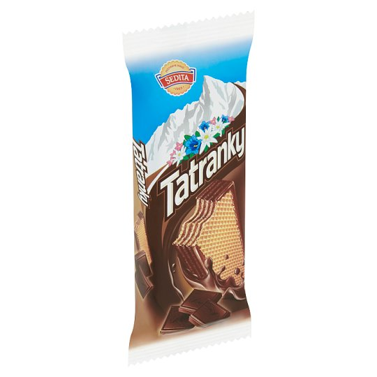 Sedita Tatranky Crispy Wafers with Cocoa-Chocolate Cream Filling in Cocoa Coating 45 g