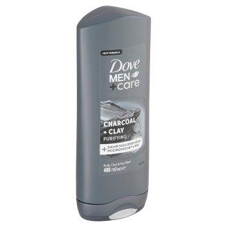 Dove Men+Care Charcoal + Clay sprchovací gél na telo a tvár 400 ml