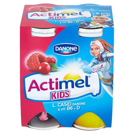 Danone Actimel Kids Yoghurt Milk with Vitamins B6 and D - Raspberry-Cranberry 4 x 100 g