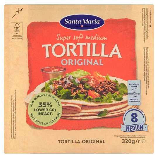 Santa Maria Original mexické pšeničné tortilly 320 g