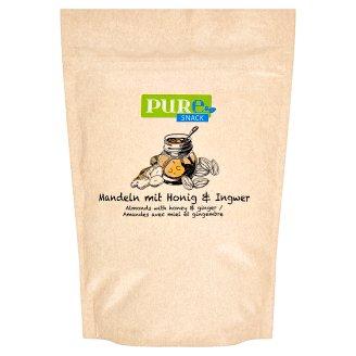 Pure Snack Pražené plátky blanšírovaných jadier mandlí s medom, soľou a zázvorom 125 g