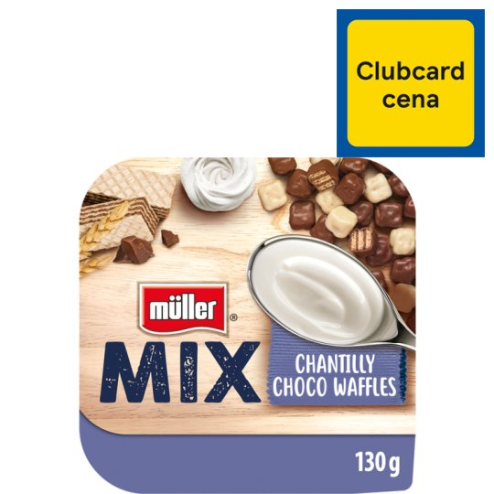 Muller Mix Chantilly Jogurt Choco Waffles Yoghurt With Cream Flavour 130 G Tesco Groceries