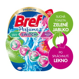Bref Perfume Switch Floral Apple & Water Lily tuhý WC blok 50 g