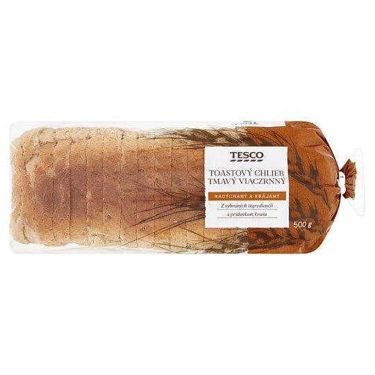 Tesco Toastový chlieb tmavý viaczrnný 500 g