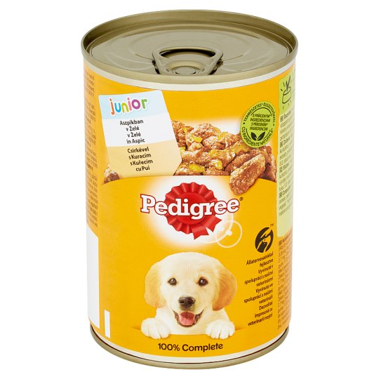 Pedigree Junior Chicken in Jelly Complete Dog Food 400 g