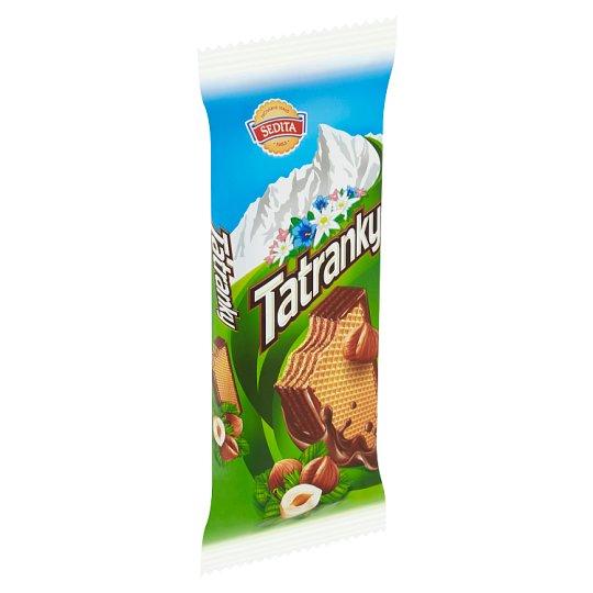 Sedita Tatranky Oblátky s lieskovoorieškovou krémovou náplňou v kakaovej poleve 45 g