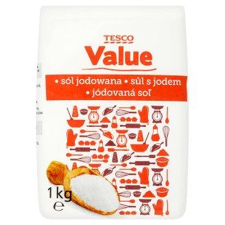 Tesco Value Jódovaná soľ 1 kg