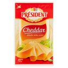Président Cheddar Full-Fat Sliced ​​Ripened Semi-Hard Cheese 100 g