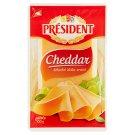 Président Cheddar plátkovaný plnotučný polotvrdý zrejúci syr 100 g