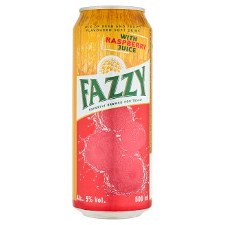 Fazzy Mix of Beer and Fruity Flavoured Soft Drink with Raspberry Juice 500 ml