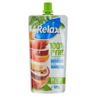 Relax 100% pyré jablko mrkva broskyňa banán maracuja 120 g