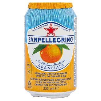 Sanpellegrino Aranciata pomaranč sýtený nealkoholický nápoj 0,33 l
