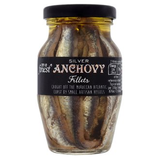 Tesco Finest Silver Anchovies Fillets 155 g