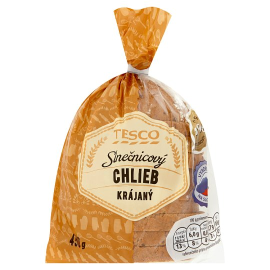 Tesco Sunflower Bread Sliced 450 g