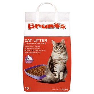 Brunos Hrudkujúce stelivo pre mačky 10 l