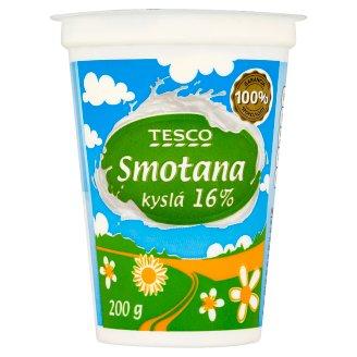 Tesco Smotana kyslá 16 % 200 g