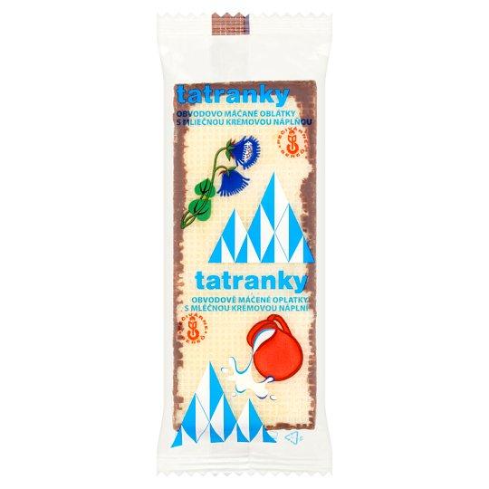 Tatranky Obvodovo máčané oblátky s mliečnou náplňou 33 g