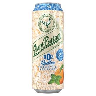 Zlatý Bažant Radler 0.0% Peach-Basil 500 ml